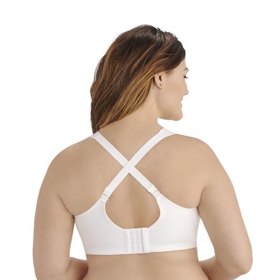 Full Figure Wirefree Sport Bra Star White