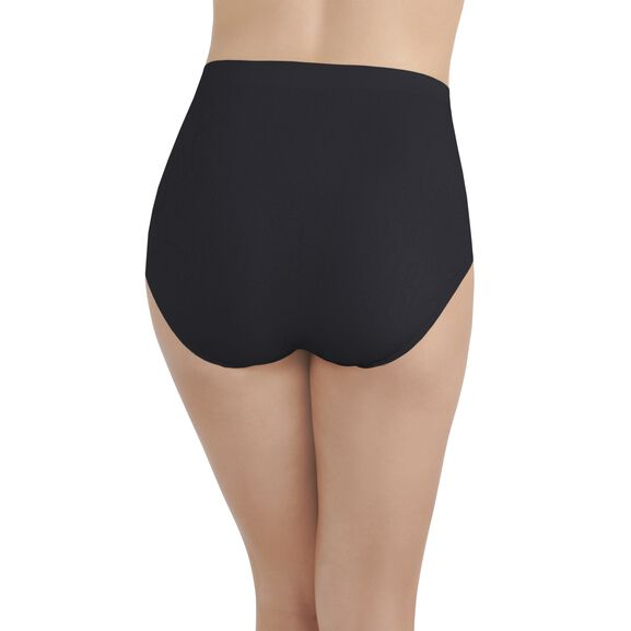 Perfectly Yours Seamless Jacquard Full Brief Panty Midnight Black