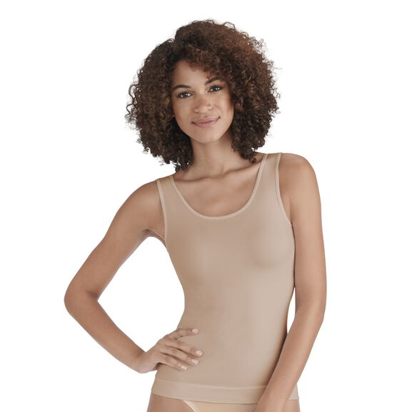 Everyday Layers Seamless Smoothing Spin Tank Demask Netrual