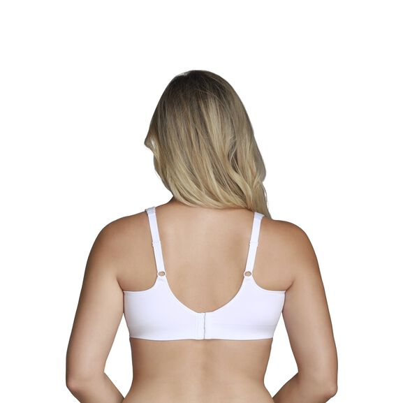 Beyond Comfort Full Figure Wirefree Bra Star White