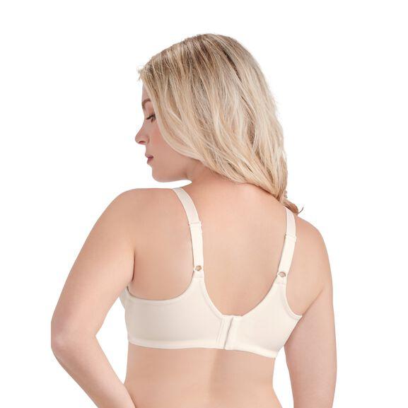 Beauty Back Full Figure Underwire Smoothing Bra Coconut White Jacquard