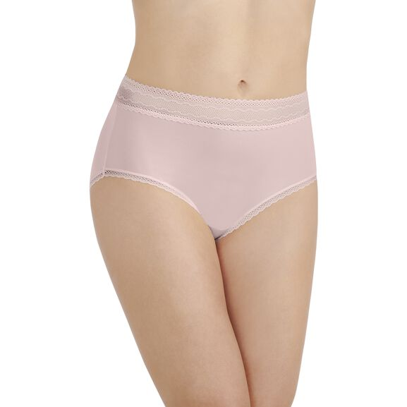 Flattering Lace Brief Panty Sheer Quartz