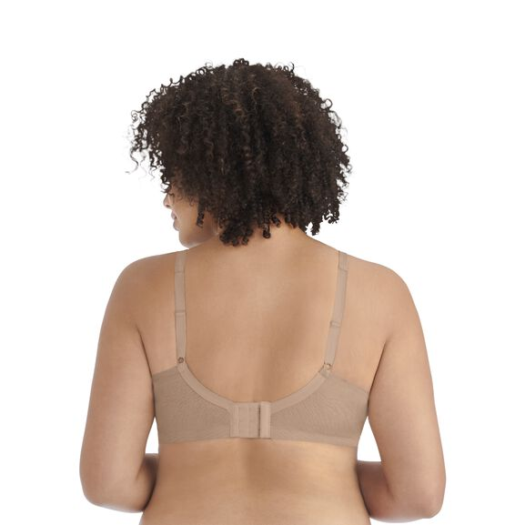 Breathable Luxe Full Figure Wirefree Bra HONEY BEIGE