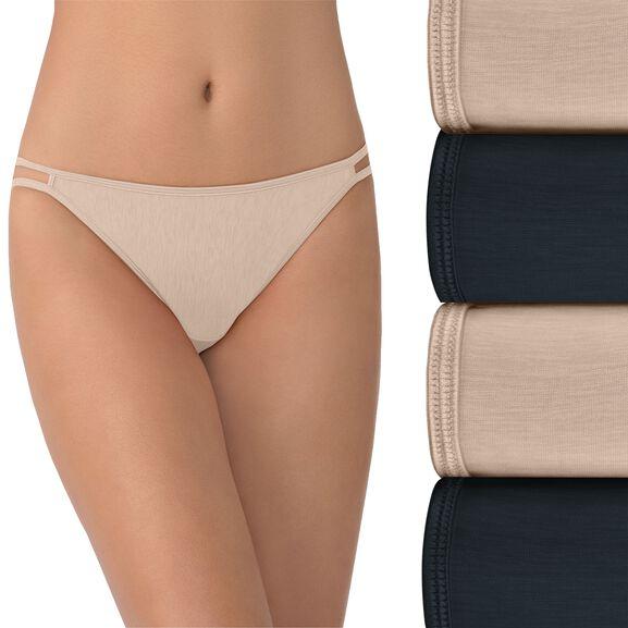 Illumination String Bikini Panty, 4 Pack Multi