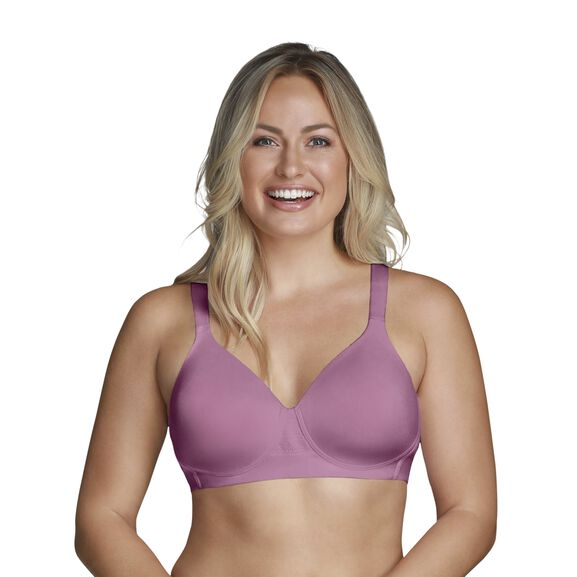 Beyond Comfort Full Figure Wirefree Bra Rosy Glow