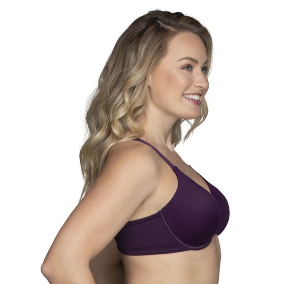 Beauty Back Full Figure Underwire Smoothing Bra Sangria