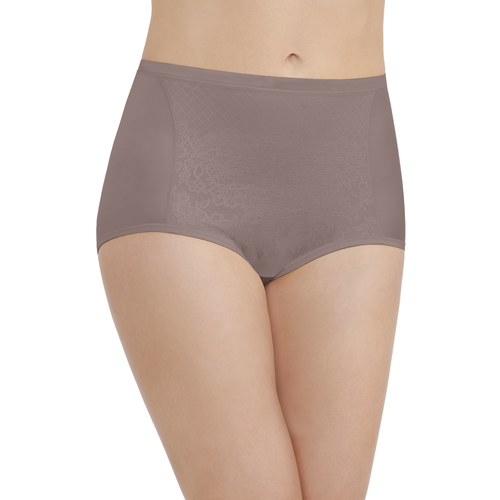 Smoothing Comfort Lace Brief Walnut