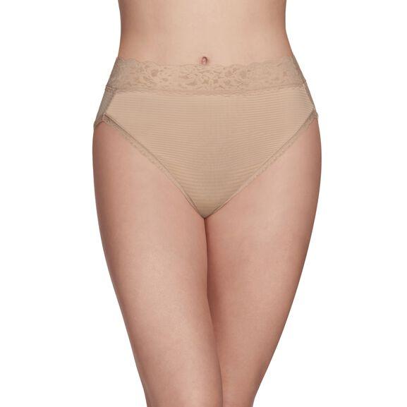 Flattering Lace Hi-Cut Panty Rose Beige