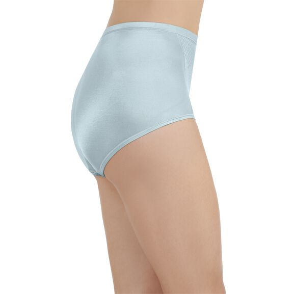 Smoothing Comfort Brief Panty with Lace Clear Water