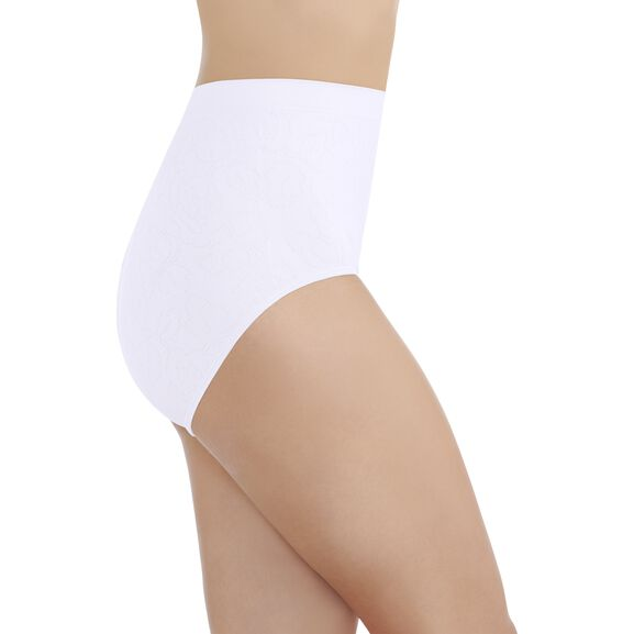 Perfectly YoursSeamless Jacquard Full Brief Panty Star White