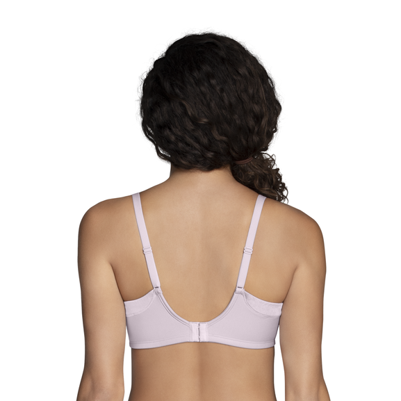 Full Coverage Wirefree Extended Side and Back Smoother Bra Earthy Grey