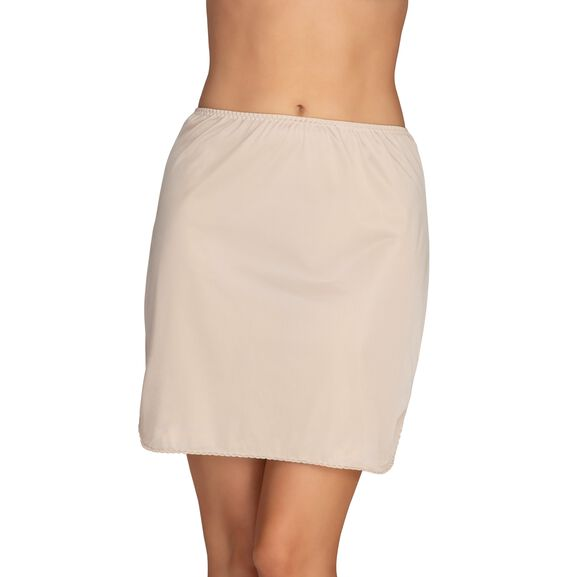 Everyday Layers Double Slit Half Slip Damask Neutral