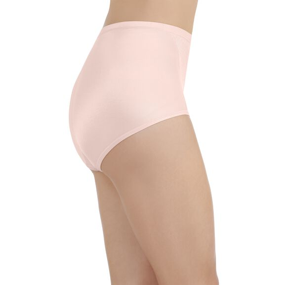 Smoothing Comfort Brief Panty with Lace Champagne