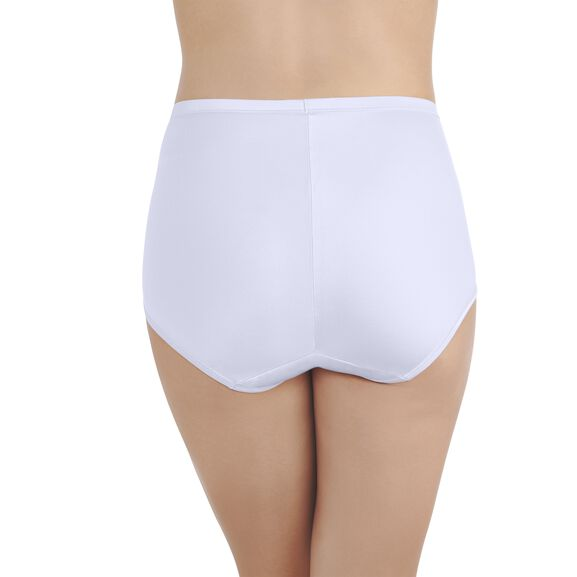 Smoothing Comfort Brief Panty with Lace Star White