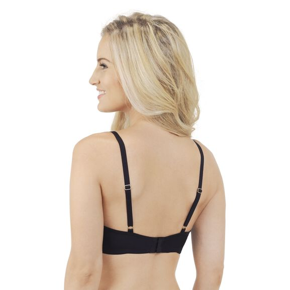 Breathable Luxe Full Coverage Padded Underwire Bra Midnight Black