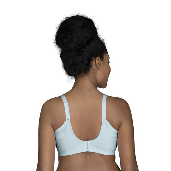 Full Figure Wirefree Extended Side and Back Smoother Bra Clearwater