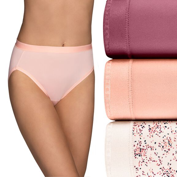 Comfort Where It Counts Hi-Cut Panty, 3 Pack Make a Whish Print/Sweet Nectar/Lovers Knot