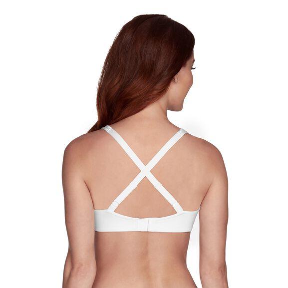 Body Caress Full Coverage Wirefree Bra Star White