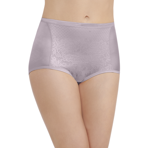 Smoothing Comfort Lace Brief Earthy Grey
