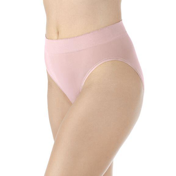 No Pinch No Show Seamless Hi-Cut Panty Sheer Quartz Lace