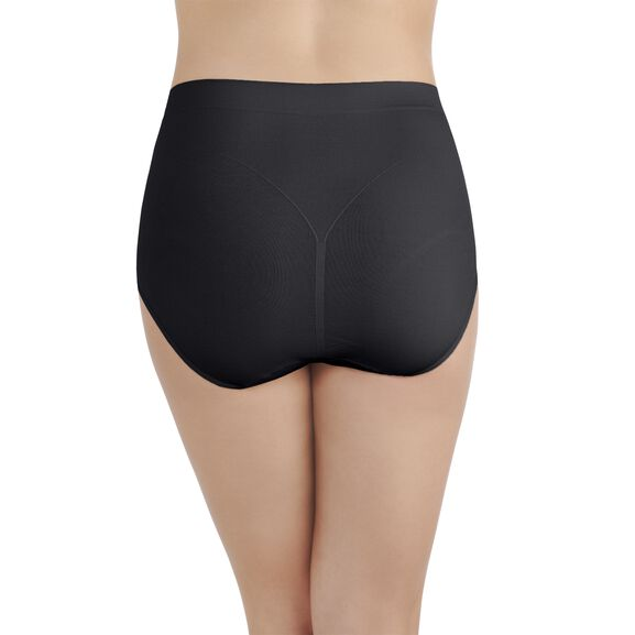 Smoothing Comfort Seamless Brief Panty Midnight Black