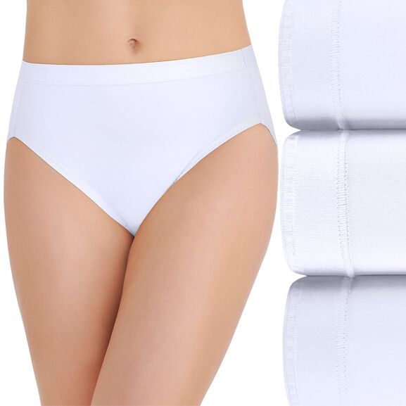 Comfort Where It Counts Hi-Cut Panty, 3 Pack Star White/Star White/Star White