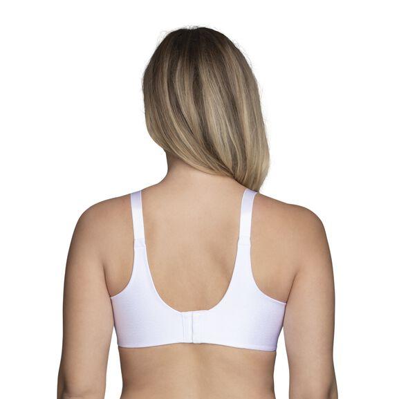 Beauty Back Full Figure Underwire Smoothing Bra Star White Jacquard