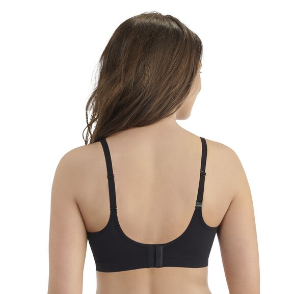 Breathable Luxe Full Coverage Seamless Wirefree Midnight Black