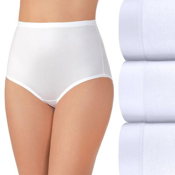 Body Caress Brief Panty, 3 Pack Star White/Star White/Star White