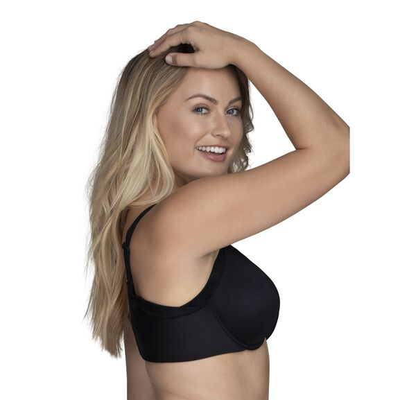 Beauty Back® Full Figure Underwire Extended Side and Back Smoother Bra Midnight Black
