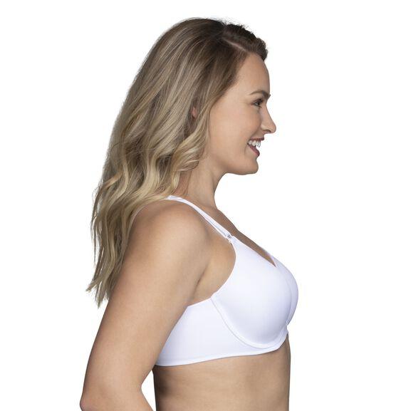 Beauty Back Full Figure Underwire Smoothing Bra Star White