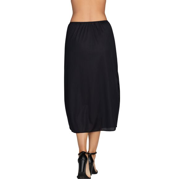 Everyday Layers Double Slit Half Slip Midnight Black