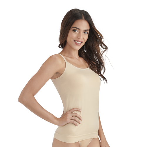 Seamless Tailored Camisole Damask Neutral