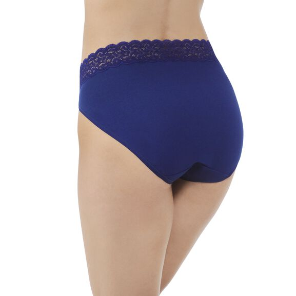 Flattering Lace Cotton Stretch HiCut Times Square Navy