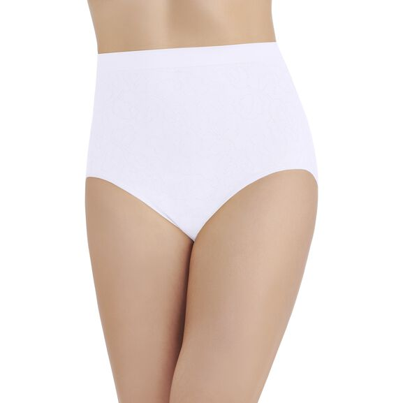 Perfectly Yours Seamless Jacquard Full Brief Panty Star White