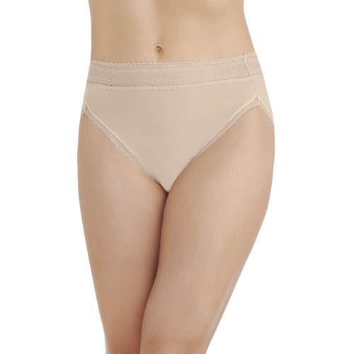 Flattering Lace Hi-Cut Honeybge