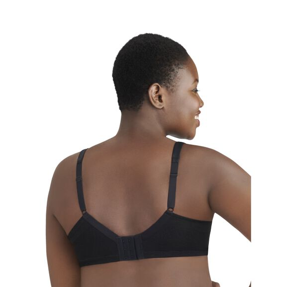 Breathable Luxe Full Figure Wirefree Bra MIDNIGHT BLACK
