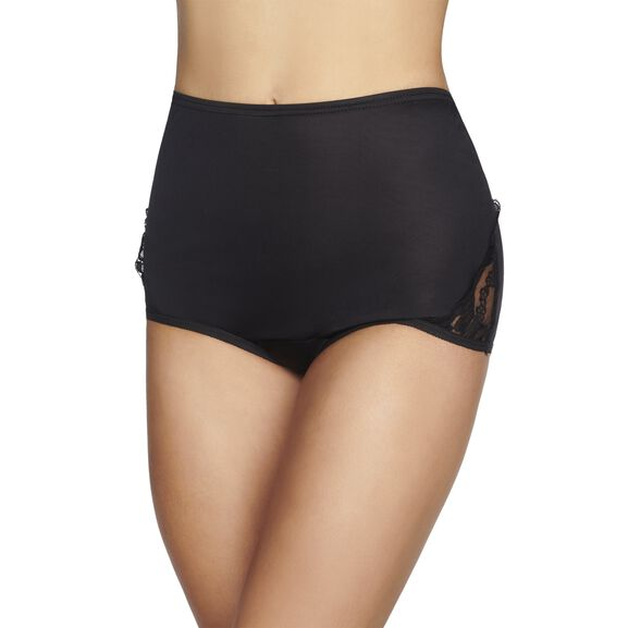 Perfectly YoursLace Nouveau Full Brief Panty Midnight Black