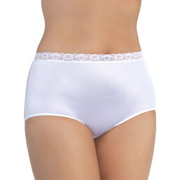 Perfectly Yours® Nylon with Lace Brief