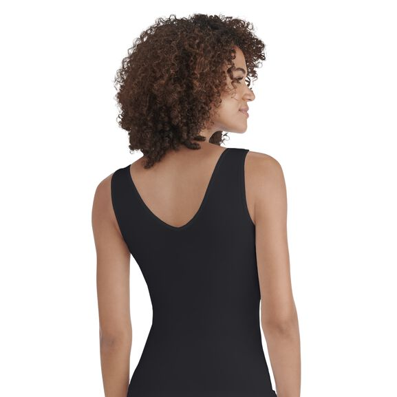 Everyday Layers Seamless Smoothing Spin Tank Midnight Black