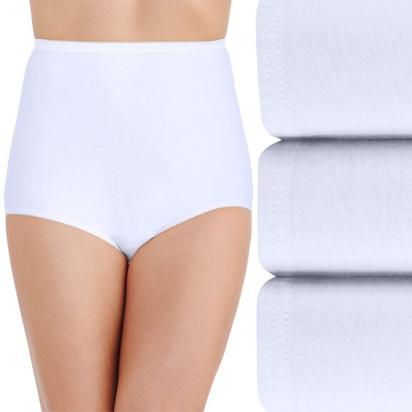 Perfectly Yours Classic Cotton Full Brief Panty, 3 Pack Star White/Star White/Star White