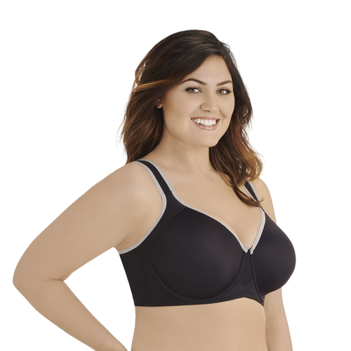 Sport Bra Underwire Midnight Black Feather Grey