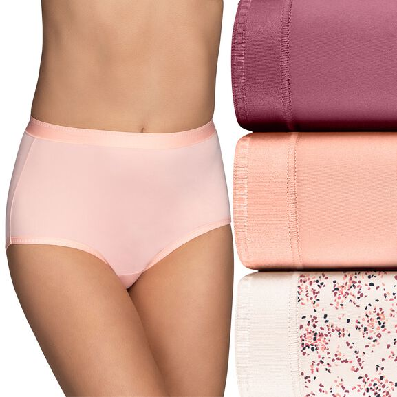 Comfort Where It Counts Brief Panty, 3 Pack Make a Whish Print/Sweet Nectar/Lovers Knot