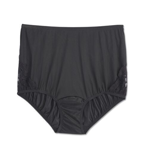 Perfectly Yours® Lace Nouveau Brief Midnight Black