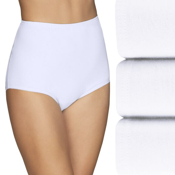 Perfectly Yours® Classic Cotton Full Brief Panty, 3 Pack Multi Pack 4