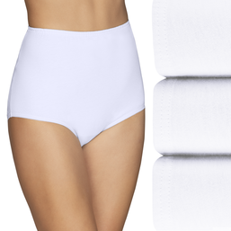 Perfectly Yours® Classic Cotton Full Brief Panty, 3 Pack