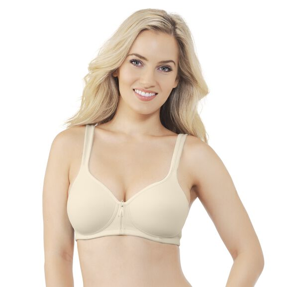Body Caress Full Coverage Wirefree Bra Ivory