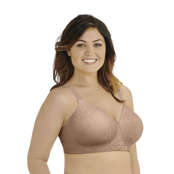 Beauty Back Full Figure Wirefree Smoothing Bra Honey Beige