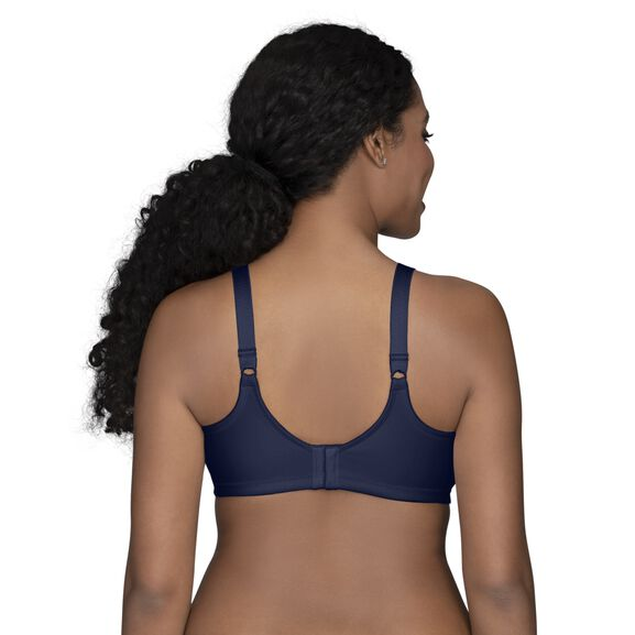 Beauty Back Full Figure Wirefree Smoothing Bra Ghost Navy