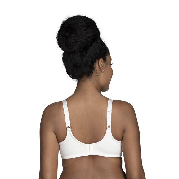 Beauty Back Full Figure Underwire Minimizer Coconut White Jacquard